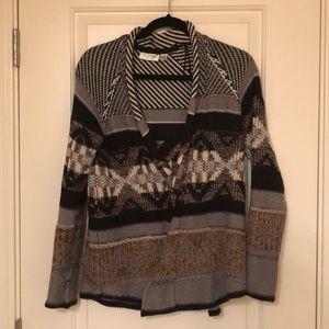 Cozy, open drape cardigan sweater